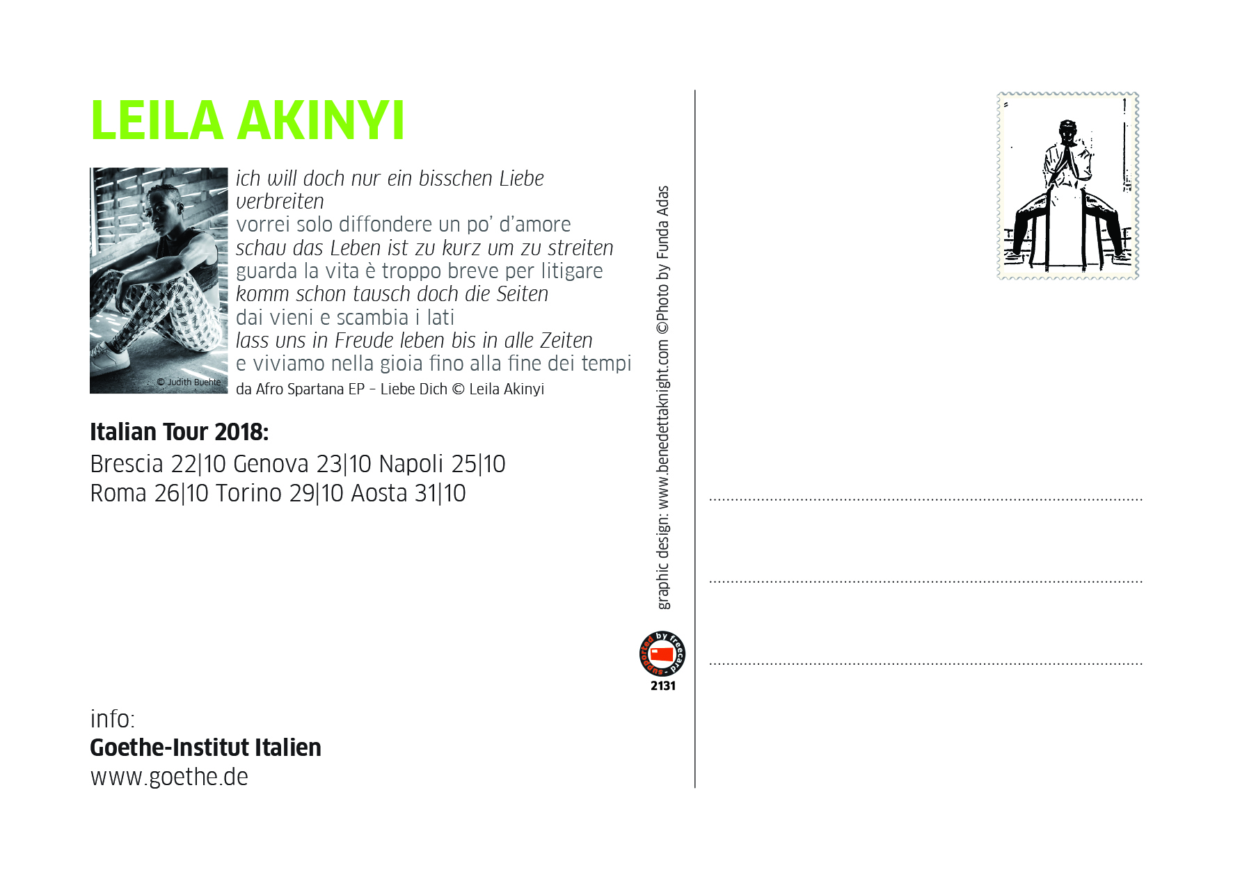 Freecards: Leila Akinyi - Goethe-Institut